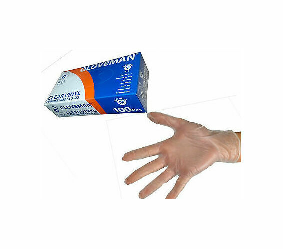 UK Stock of High Quality Clear//Blue Powder Free and Latex Free Vinyl Disposable Medical Grade Box of 100 Gloves Next Day Delivery with  Prime Small, Blue
