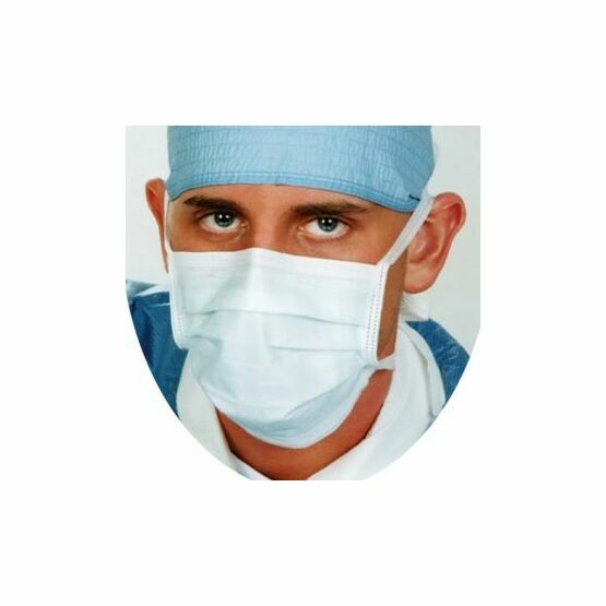 Nuguard Type IIR Fluid Resistant Anti Fog Surgical Tie-On Face Masks