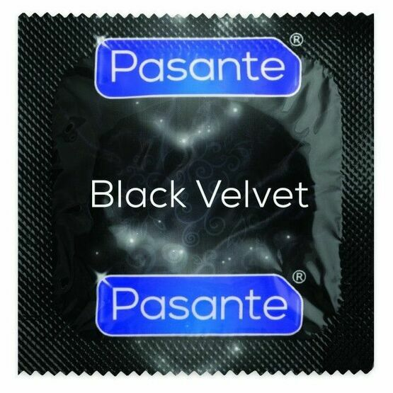 Pasante Black Fantasy Condoms (Large)