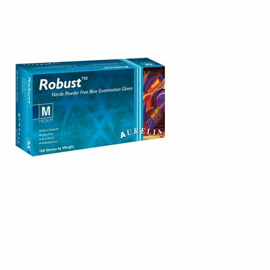 3 CASES - 30 x Boxes of Aurelia Robust Strong Blue Nitrile Gloves